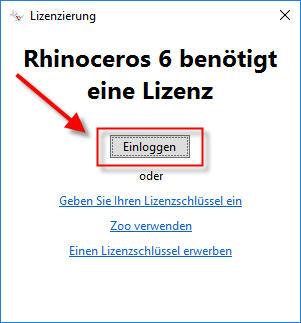 Rhino 6: Lizenz mit dem Cloud-Zoo über das Internet verwalten