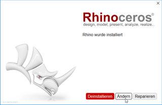 rhino sprache ändern